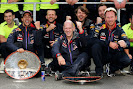 Celebration of Daniel Ricciardo, Adrian Newey and team principal Christian Horner