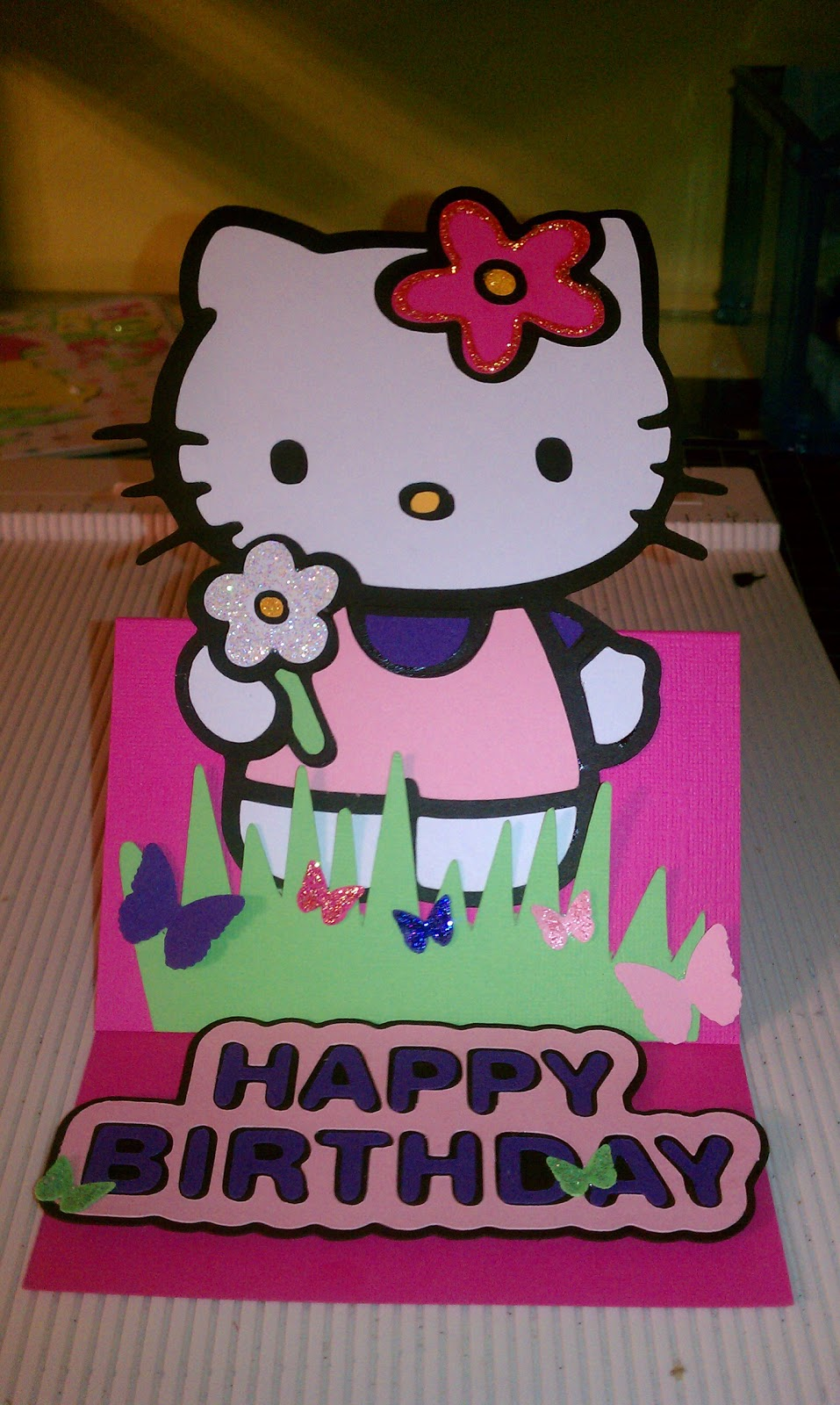 pam'spaperpassion hello kitty birthday card