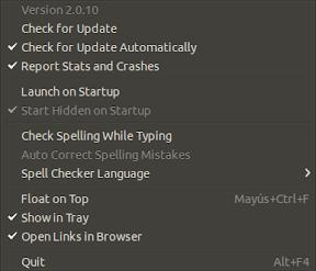 Whatsapp en Ubuntu - menu 1