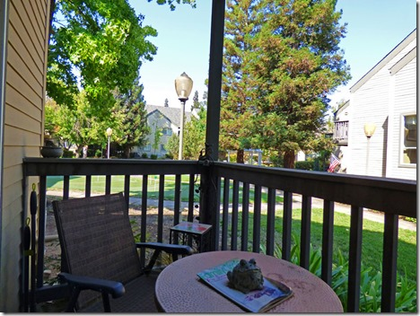 Mom and Dad's patio balcony,  Brookdale Orangevale Assisted Living community