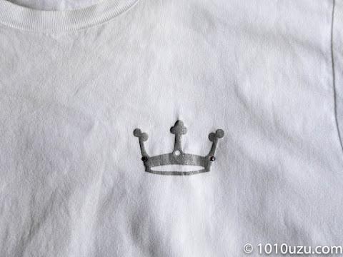 プリントTシャツのラインストーンが取れた