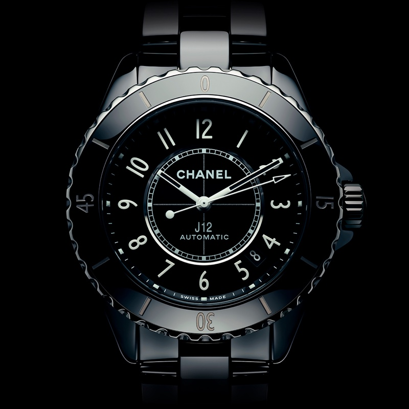 Chanel J12 Watch in Black.
