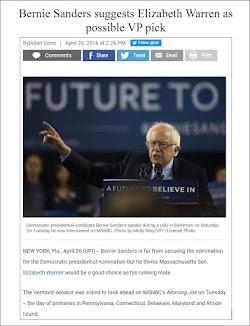 20160426_1424 Bernie Sanders suggests Elizabeth Warren as possible VP pick (UPI).jpg