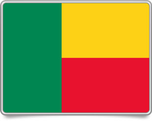 Beninese framed flag icons with box shadow