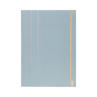 Mapp i papp A4 Dusty Blue
