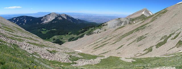Panorama from the ridge showing South Mountain and Mount Tukuhnikivatz