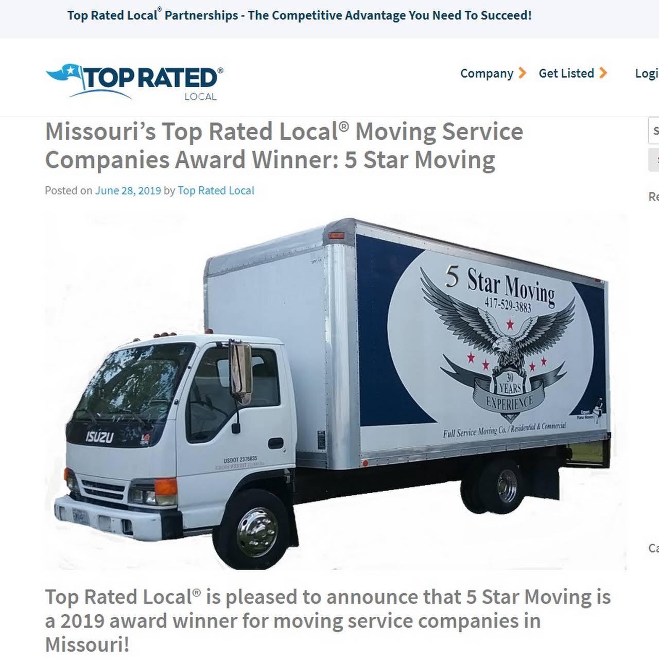 5 Star Moving - Moving Company in Joplin