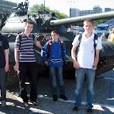 Czołg na Pl. Defilad. Z okazji rocznicy wyborów 4 czerwca