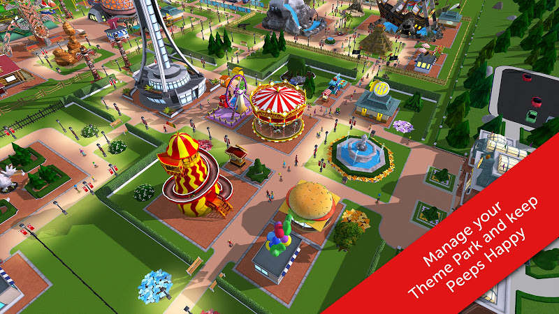 RollerCoaster Tycoon Touch v1.4.30 (Mod Money)