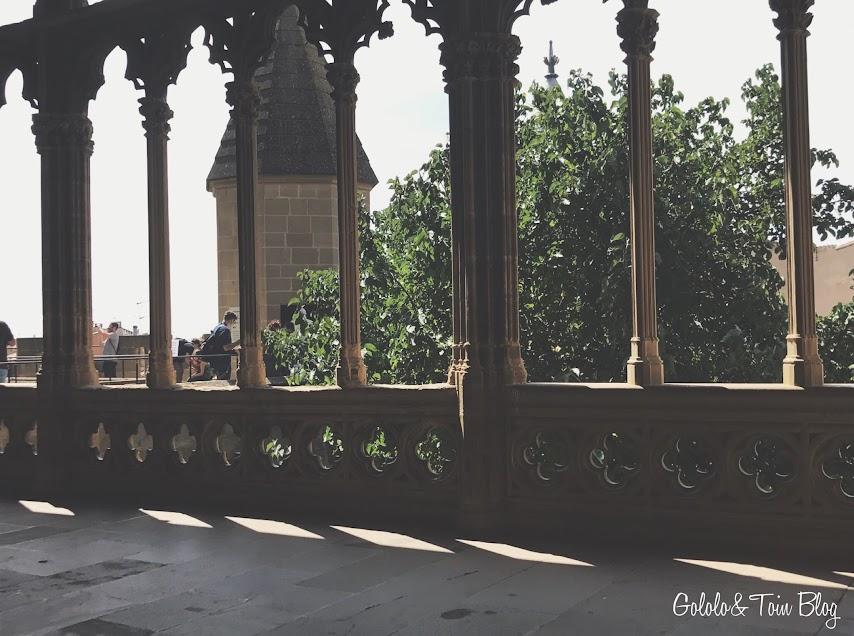 Sala de los arcos Palacio Real de Olite