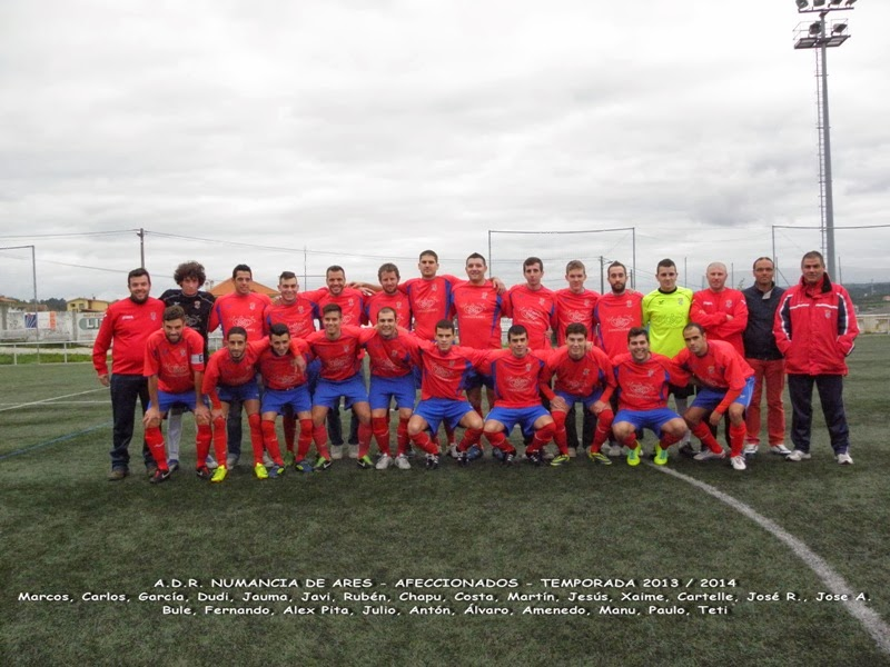 Numancia de Ares. Equipo afeccionados temporada 2013-2014.