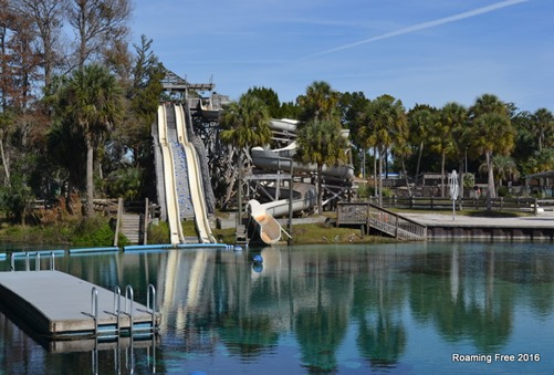 Waterslides at the spring