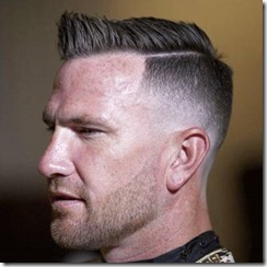 Low Shaved Fade with Comb Over and Part