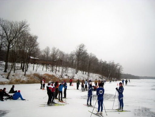 MPLS SW skiers ready to race around the lake.
