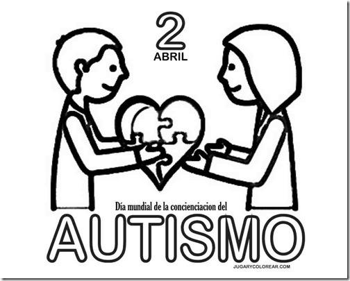 Colorear Concienciación Sobre El Autismo 2 Abril Jugar Y Colorear
