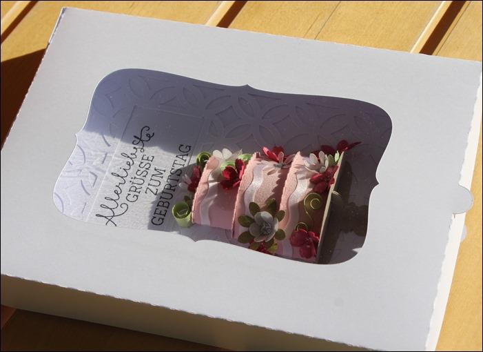 3D Cake Torte Hochzeit Geburtstag Wedding Birthday Quilling Flowers Card Karte 6