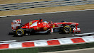 Fernando Alonso racing his Ferrar F138