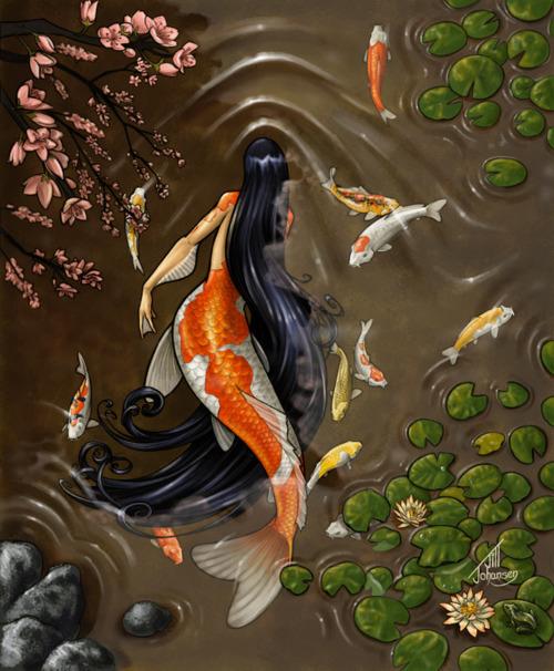 Black Hair Mermaid, Undines