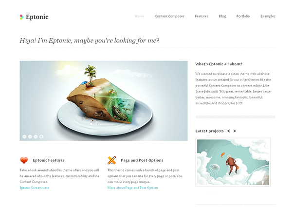 Eptonic Flexible WordPress Theme