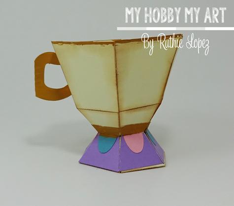 Tea cup, Chip, La Bella y La Bestia, Blog Hop, Ruthie Lopez 2