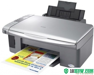 How to reset flashing lights for Epson CX3500 printer