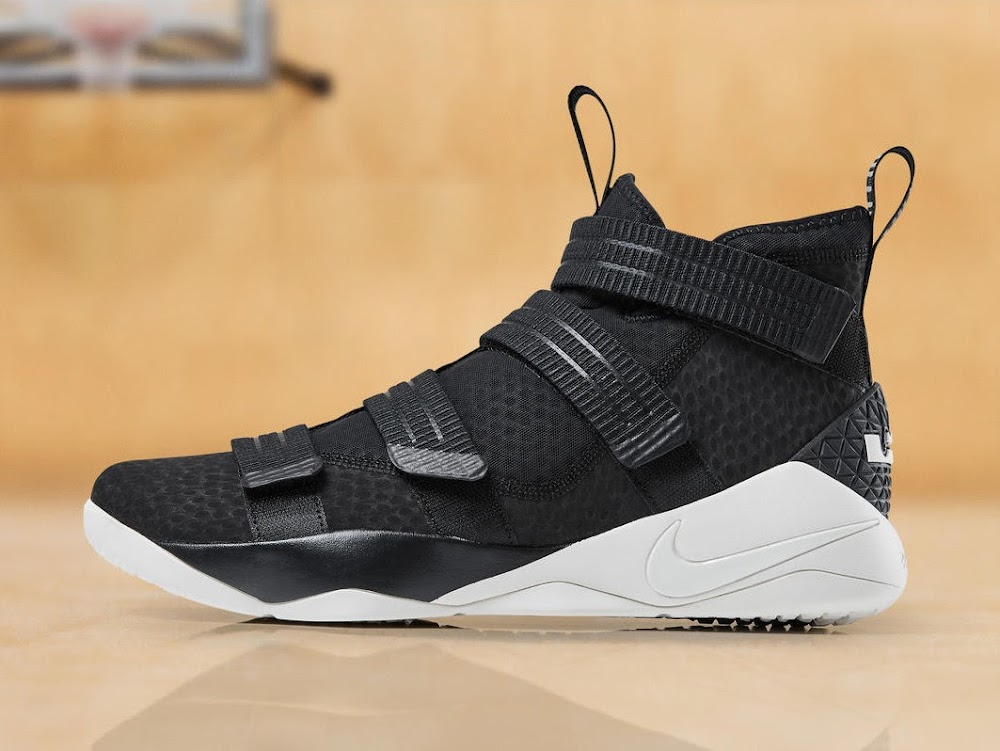 19510ac8690 Nike LeBron Soldier 11 is Now Available in Black and Sail ...