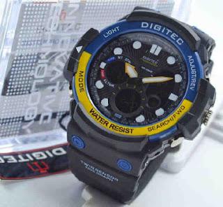 jam tangan Digitec 2092 warna ada biru kuning