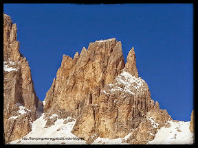 zdjęcie z trasy narciarskiej wokół Sella Ronda Włochy