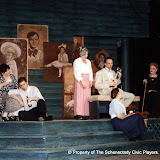 Pat Kerton, Christopher Foster, Kathy Yezzi, Mark Stephens, Joan Justice and Pearl Albrechtson in LOOK HOMEWARD, ANGEL (R) - March 1994.  Property of The Schenectady Civic Players Theater Archive.