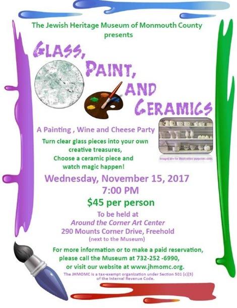 Glass, Paint & Ceramics