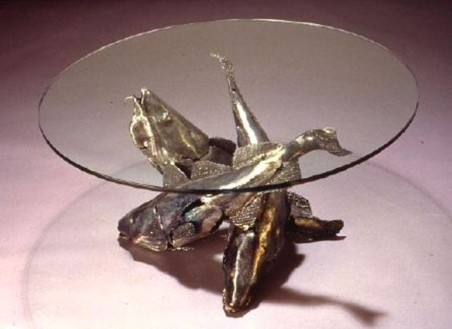 Trinity Fish Table. Artist Jim Maunder