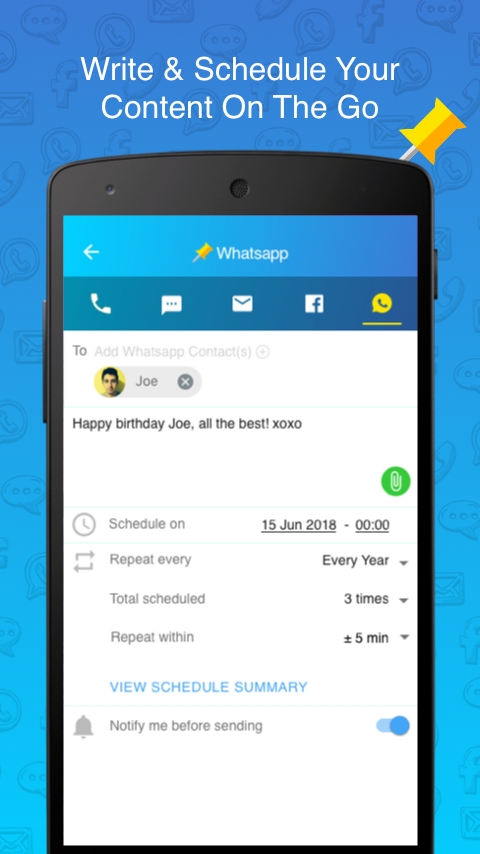 Skedit Scheduling App Schedule Whatsapp Sms Calls Android Apps On Google Play