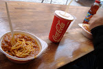 We found a spaghetti bar....mmmmmm...