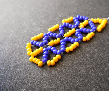 Seed Bead Triangle Weave