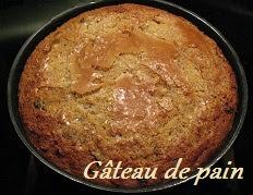 recette du gâteau de pain rassis