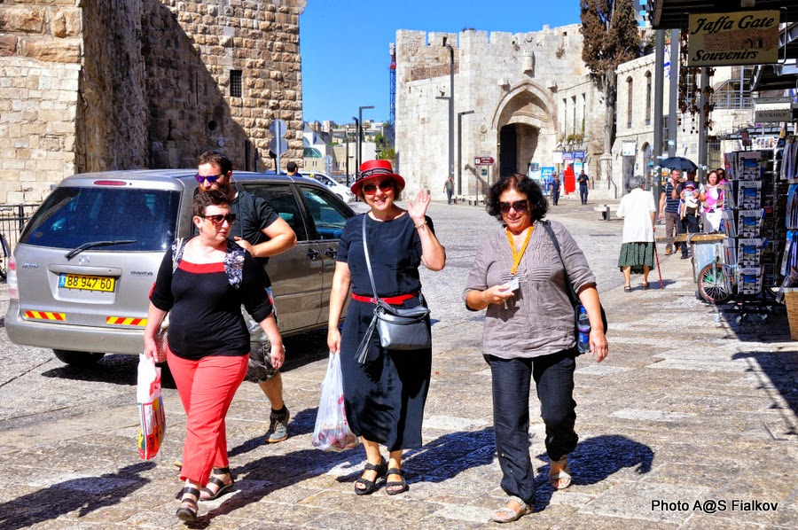Яффские ворота Старого города Иерусалима - начало экскурсии. Экскурсия по Иерусалиму. Гид в Израиле Светлана Фиалкова.