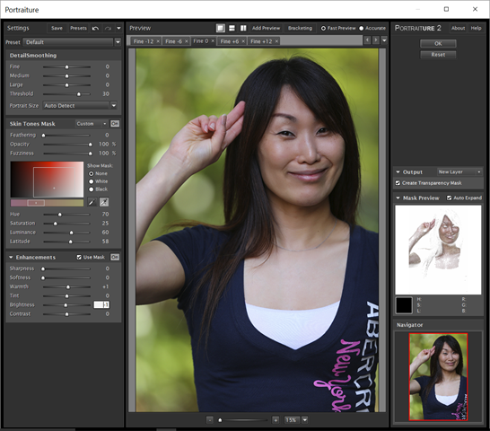 Screenshot of Imagenomic Portraiture 2.3.4