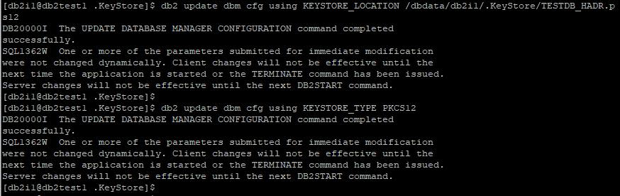 Update DBM Parameter