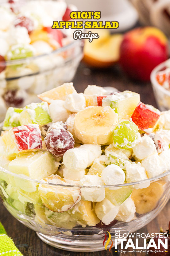 Gigi's Apple Salad in a bowl