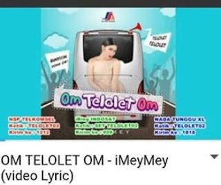 lirik lagu om telolet om yang dinyanyikan oleh imeymey