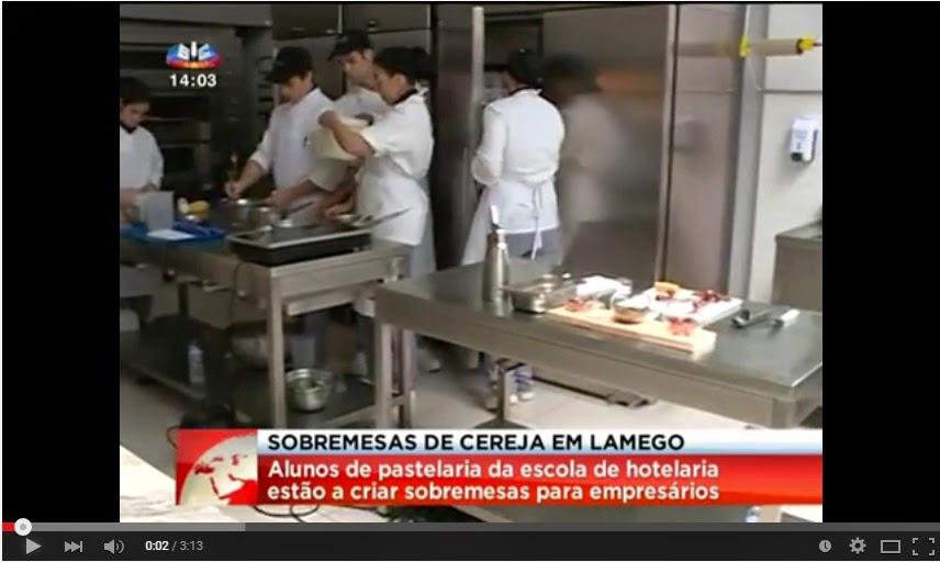Cereja é um dos ingredientes dos alunos da escola de hotelaria de Lamego