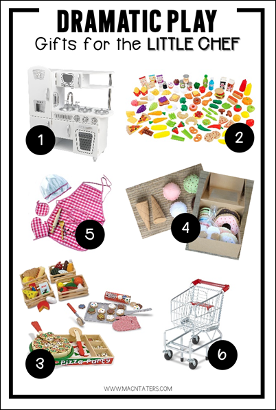 Dramatic Play Gift Guide-Gifts for the Little Chef-Pretend play kitchen and grocery store toys