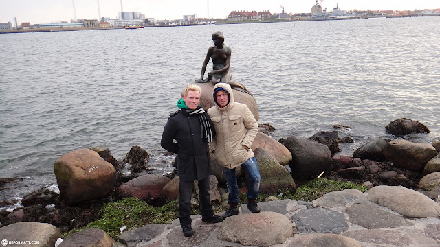 at the little mermaid in Copenhagen, Copenhagen, Denmark