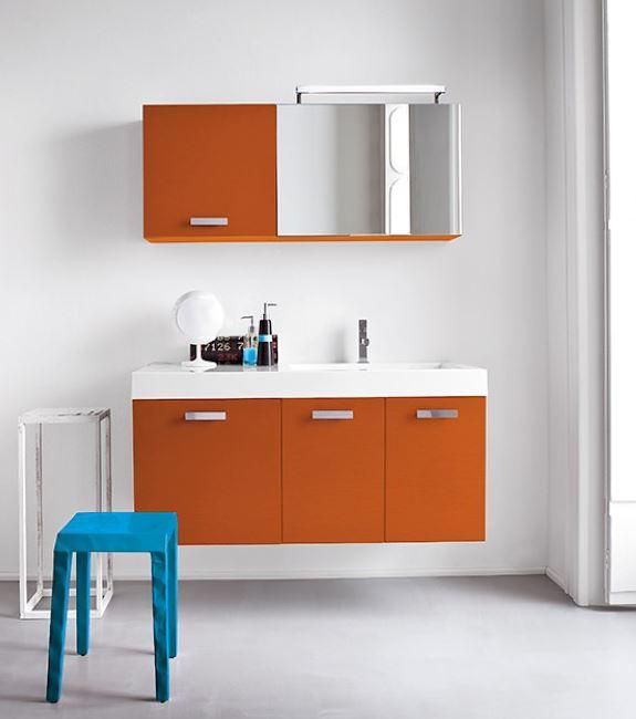 signorini arredamenti mobili per arredo bagno su misura in ... - Arredo Bagno Arancione
