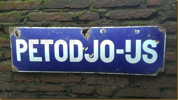 Vintage Enamel Sign Petodjo Ijs