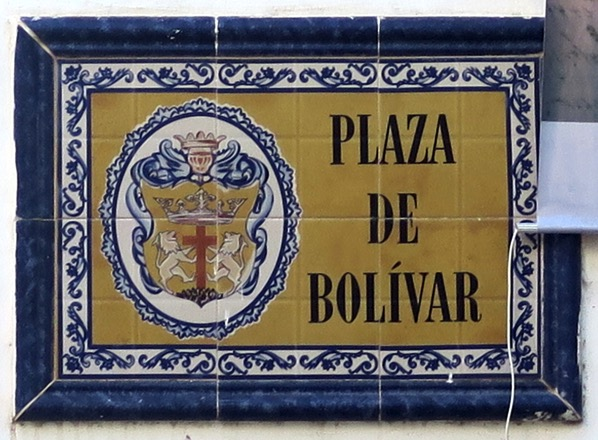 Street Sign Plaza de Bolivar