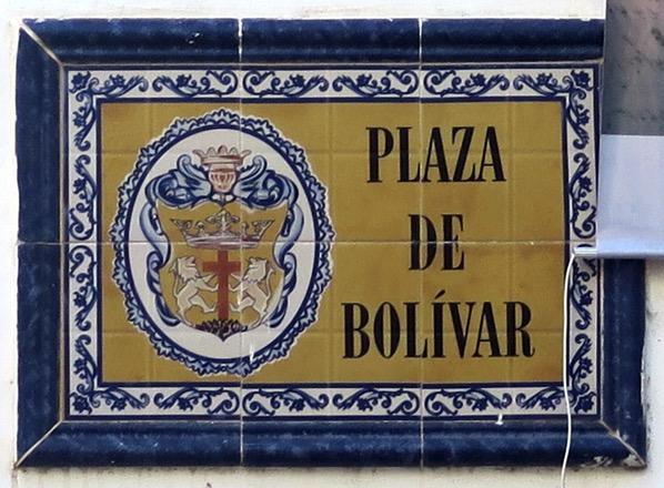 Street Sign Plaza de Bolivar