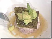 Fishburger di ricciola con avocado e mou salato