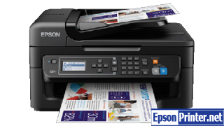 How to reset flashing lights for Epson WorkForce WF-2521 printer