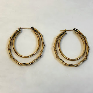 14 K Gold Double Hoop Earrings